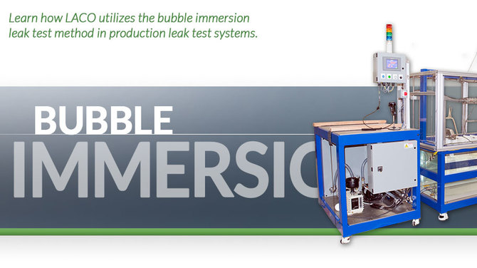 Header showing bubble immersion system