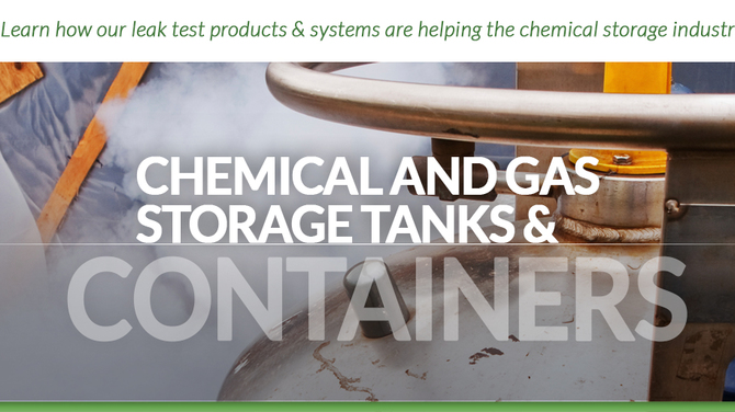 Header showing chemical storage container