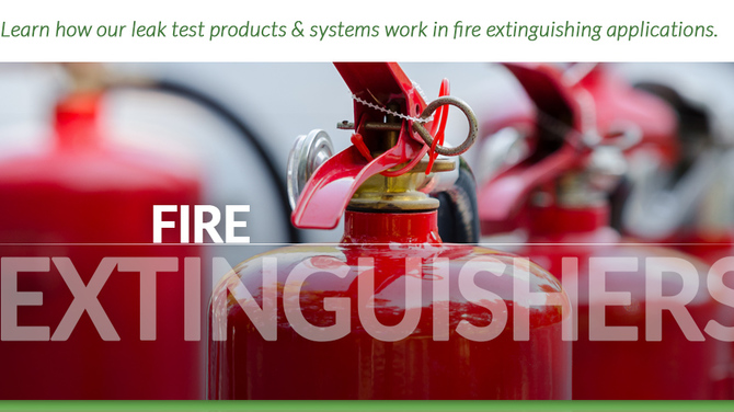 Header showing fire extinguishers
