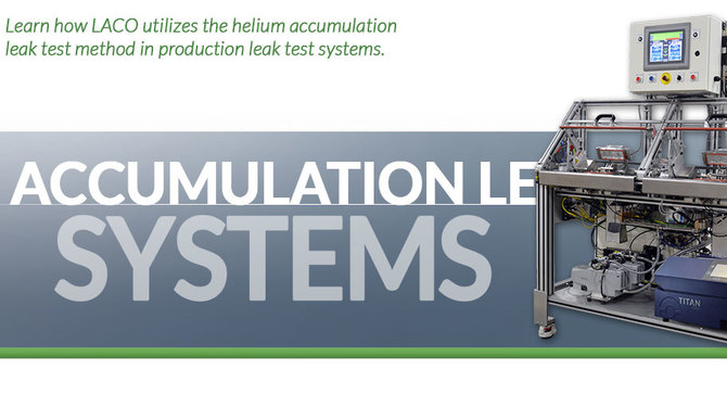 Header showing Accumulation Leak Testing Systems